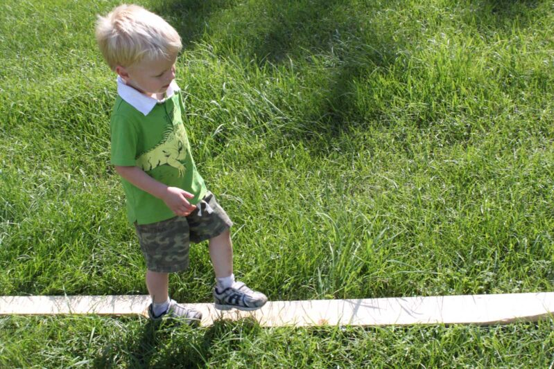 make your own balance beam at home for kids