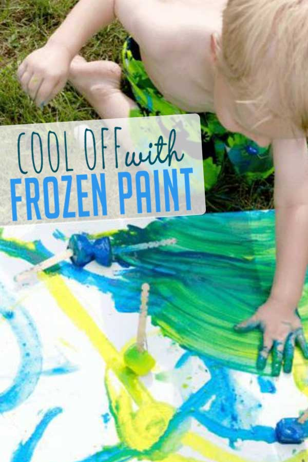 Paint With Frozen Paint Cubes On A Hot Day Hoawg