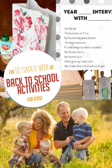 Get set for back to school with a full week of back to school activities!