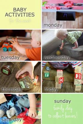 Plan a week of baby activities to do
