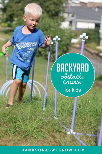 How to build a backyard obstacle course for kids to get moving!