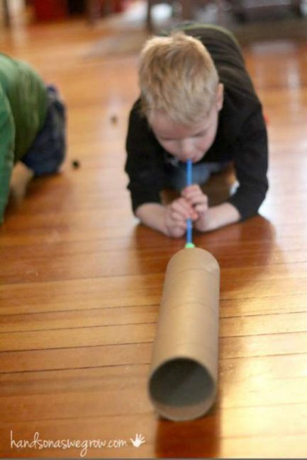 Ready - aim - BLOW the pom poms!