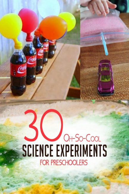Try these 30 super cool science experiments for preschoolers!