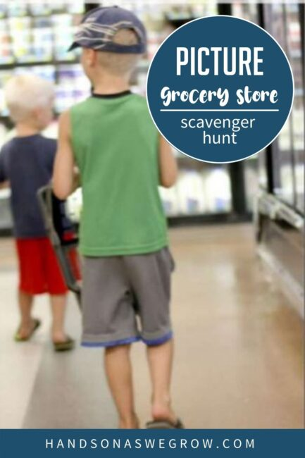 A grocery store scavenger hunt that's visual for non-readers