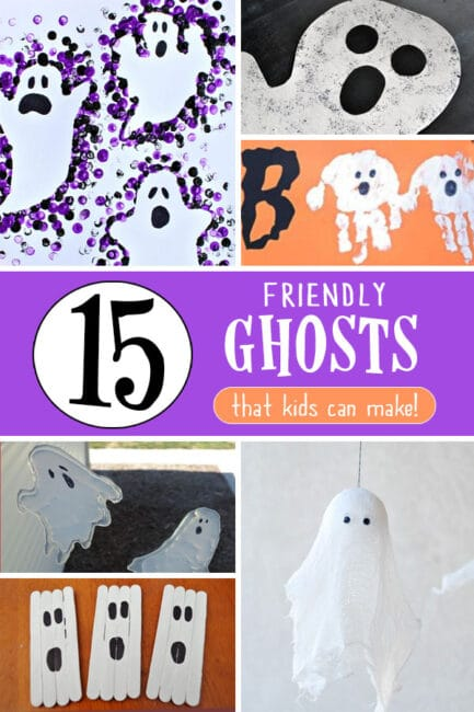 Get crafting for Halloween with 15 friendly ghost crafts for kids to make!