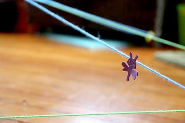 Bug placement for spider web scavenger hunt