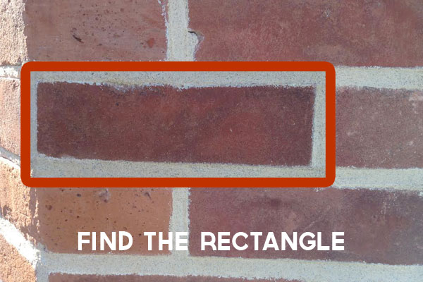 Find the rectangle on a photo scavenger hunt
