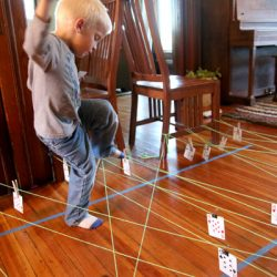 Match The Numbers Obstacle Course