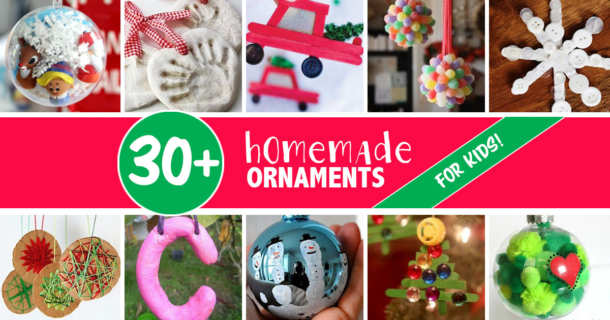 30 Homemade Christmas Ornaments For Kids Hands On As We Grow