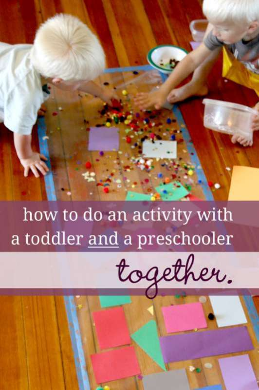3 questions to ask yourself before doing an activity with both a toddler and a preschooler together