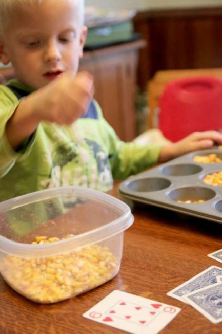 Counting handfuls of corn