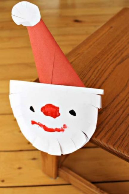 cutting practice for preschoolers - cute Santa craft!