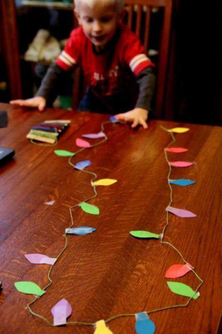 Christmas light garland craft to make