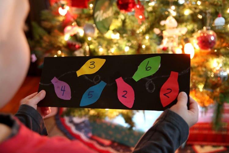 The key for the Christmas light scavenger hunt