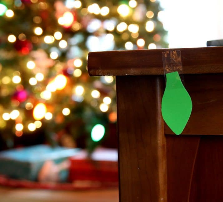 Hidden Christmas lights for scavenger hunt