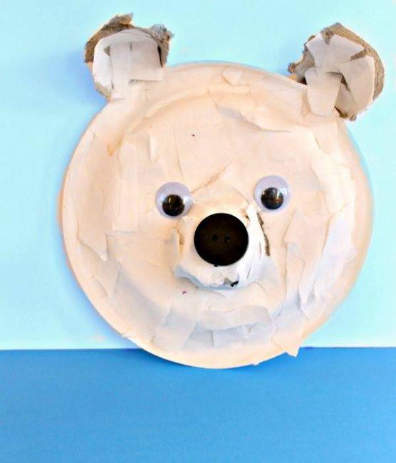 polar bear craft ideas with torn paper