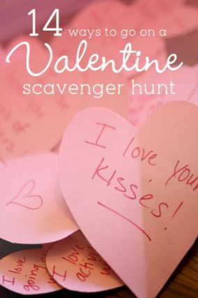 14 ways to go on a Valentine scavenger hunt!