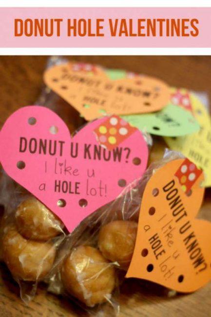 FREE Donut Hole Valentine PRINTABLE -- Donut U Know?