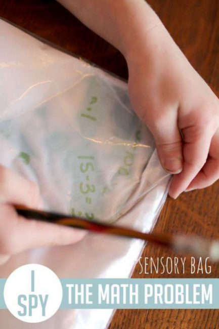 Make a sensory bag to solve math problems