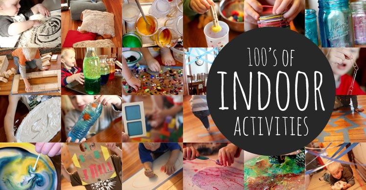 Lots of indoor activities for kids to do