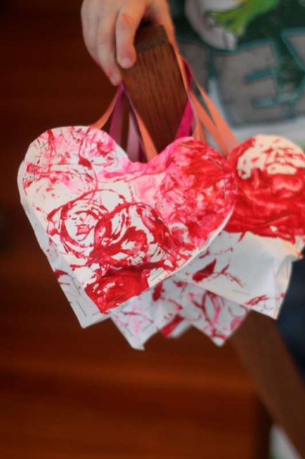 Heart Valentines for the kids at school -- stuffed with goodies!