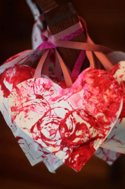 Stuff these heart Valentines with goodies for the kids at school.