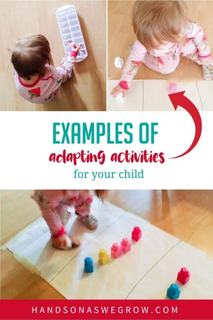 Wondering how to adapt activities for your child? Chelsie shares her simple tips and examples of adapting any type of activity for your child