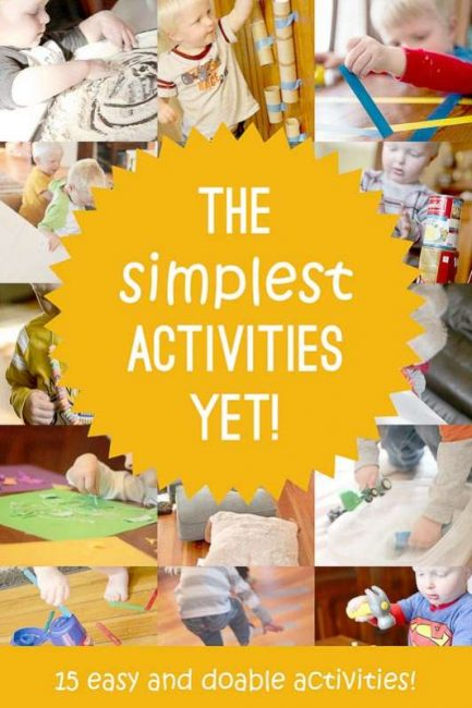 15 of the most simple activities to do with the kids -- easy and actually doable!