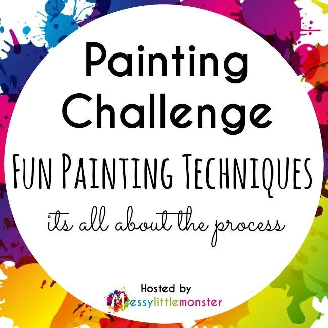 Fun painting challenge for kids with lots of different techniques to try