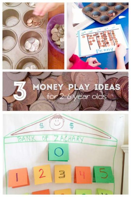 3 easy money activities for 2 to 6 year olds