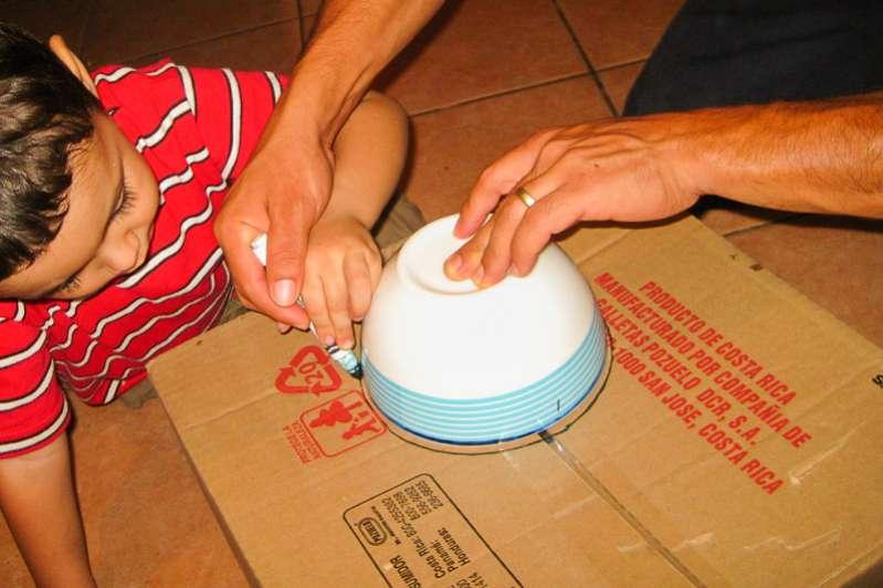 Make a cornhole game for kids
