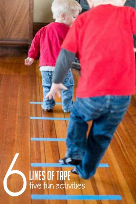 Build gross motor skills with five easy activities using just six lines of tape1