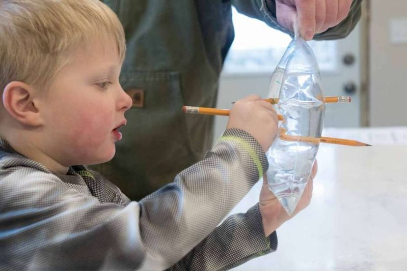Want to amaze the kids today? This leak proof bag experiment looks so fun!