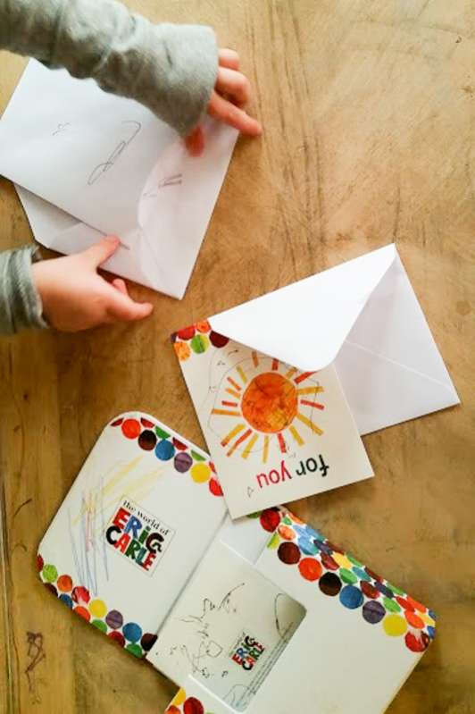 Mailbox activity for kids to practice their writing