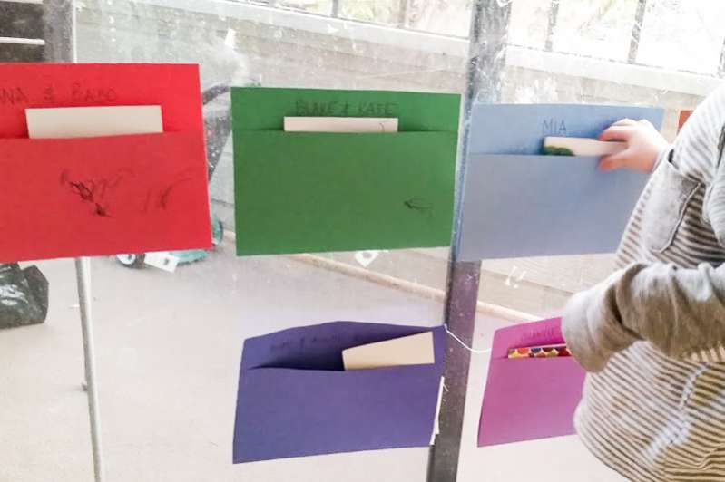 Quick mailboxes to make for the kids for pretend play