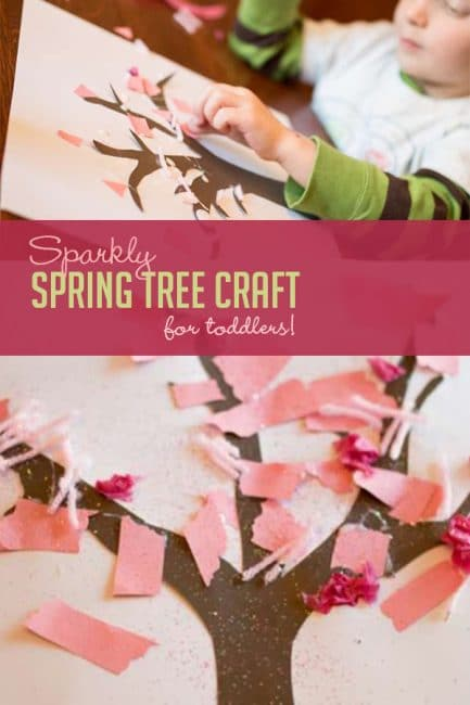 No matter where you live, you can still enjoy pretty cherry blossoms with this fun spring tree craft for toddlers!