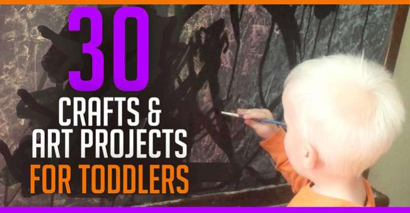 What Toddler Crafts & Art Projects Can We Do? 30 Ideas to Try