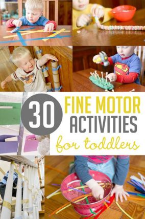 Simple fine motor activities for toddlers