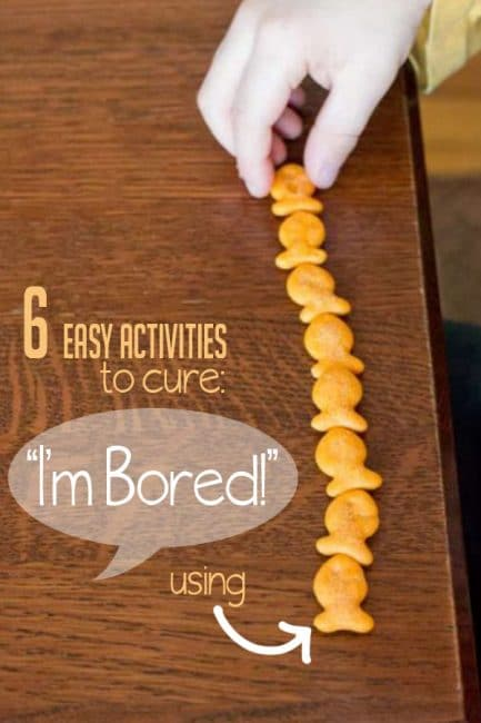 Check out these 6 boredom busting activities using a pantry snack staple - Goldfish crackers!