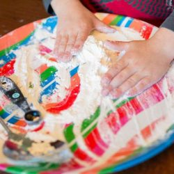 Simple flour play for kids to do