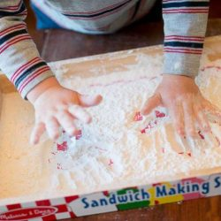 Making a mess with flour