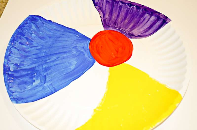 How to make paper plate beach ball craft