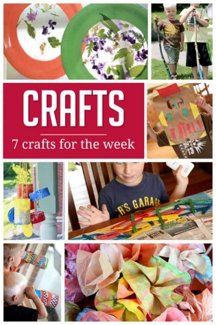 7 simple crafts to do for a week with the kids