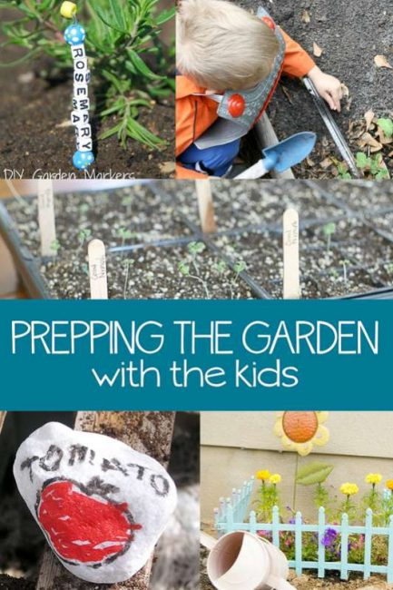 Get kids involved in prepping the garden (these are things I think the kids would actually love to do!)