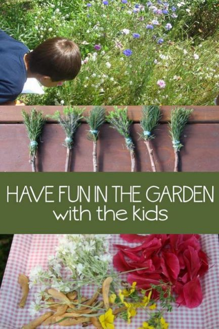 Having fun in the garden and enjoying it after growing plants
