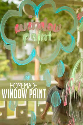 Make your own DIY window paint with a simple recipe!