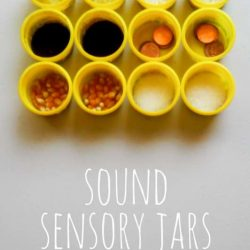 Make sound sensory jars -- and things to do with them.