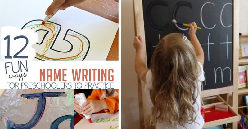 12 fun ways to practice name writing with your preschooler!