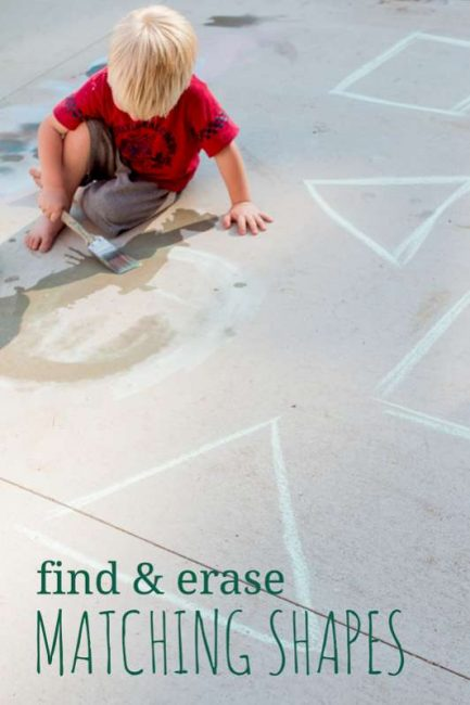 Toddler activity to find and erase the matching shapes