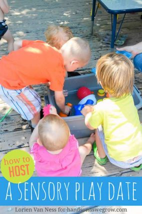 How to host your own sensory play date (make it a potluck is genius!)
